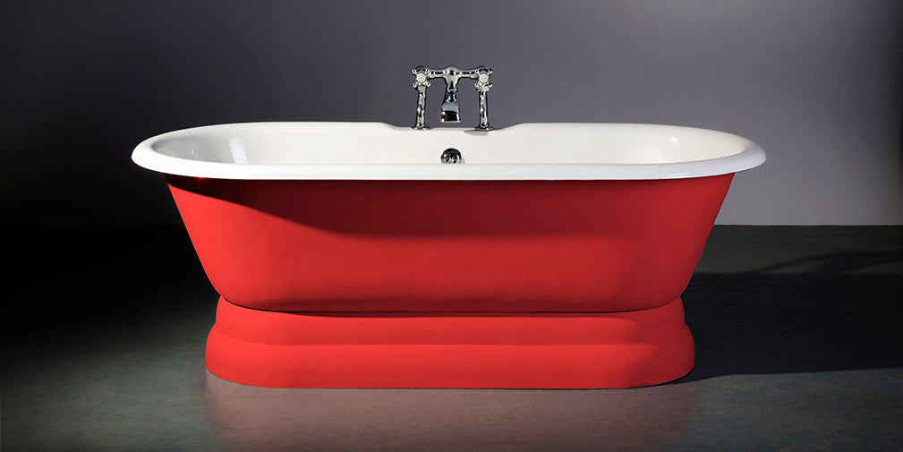 astonian rimini cast iron roll top bath on pedestal from aston matthews