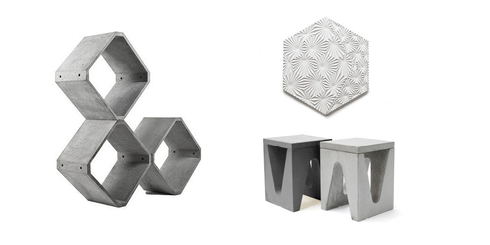 five of the best contemporary concrete designs and interior accessories