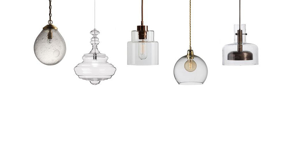 five of the best industrial style pendant lights in clear glass