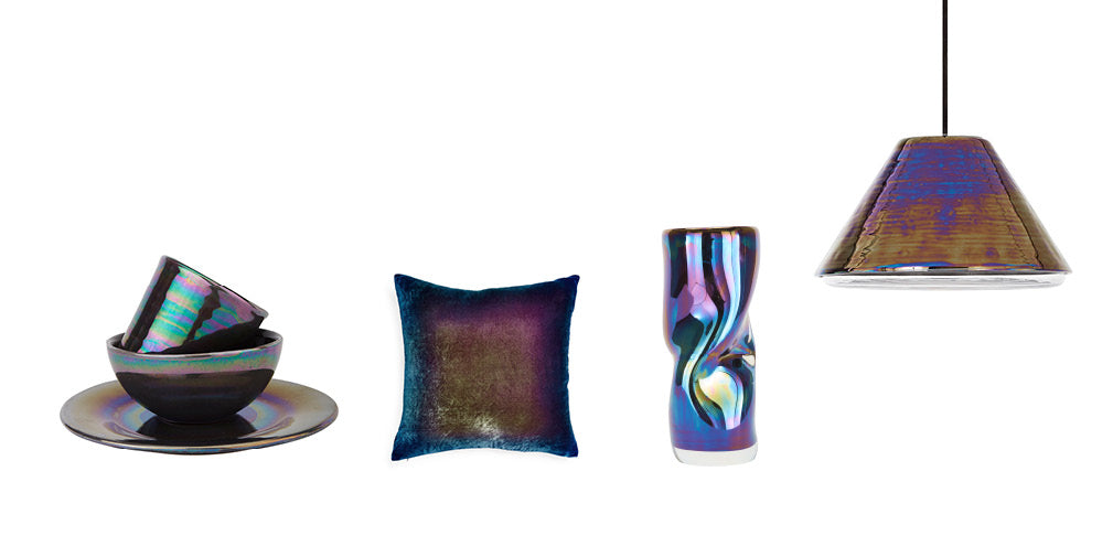 five of the best iridescent lighting and homeware designs