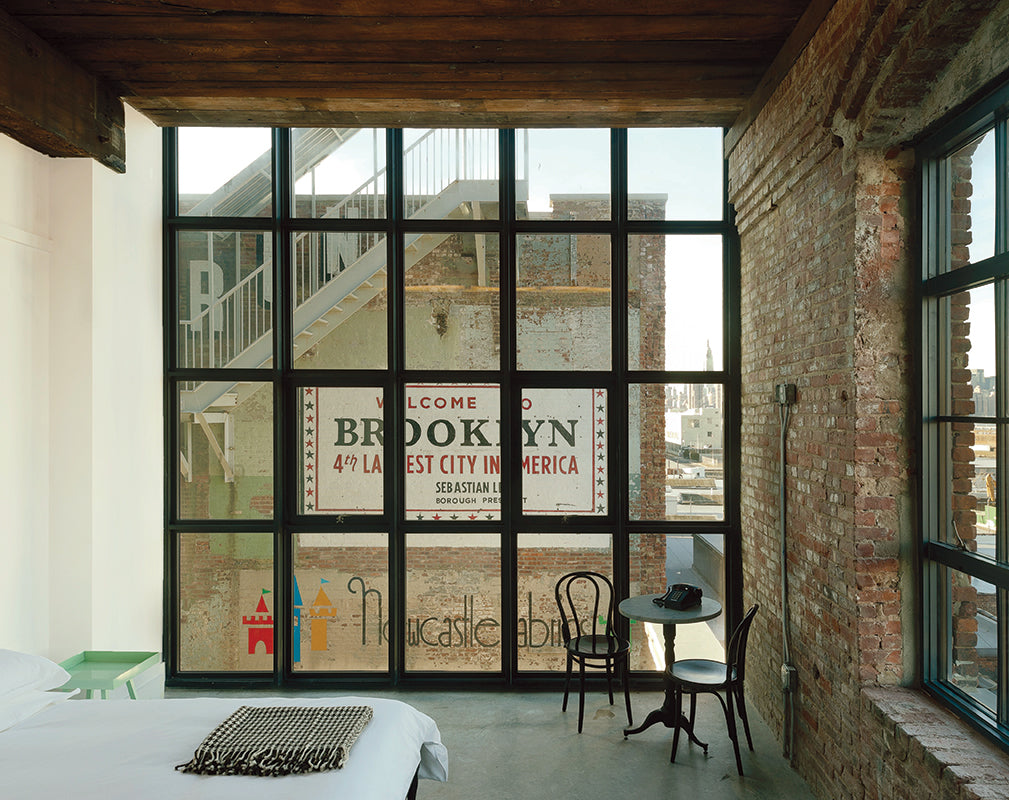 interior scheme of a guestroom in the wythe hotel brooklyn new york