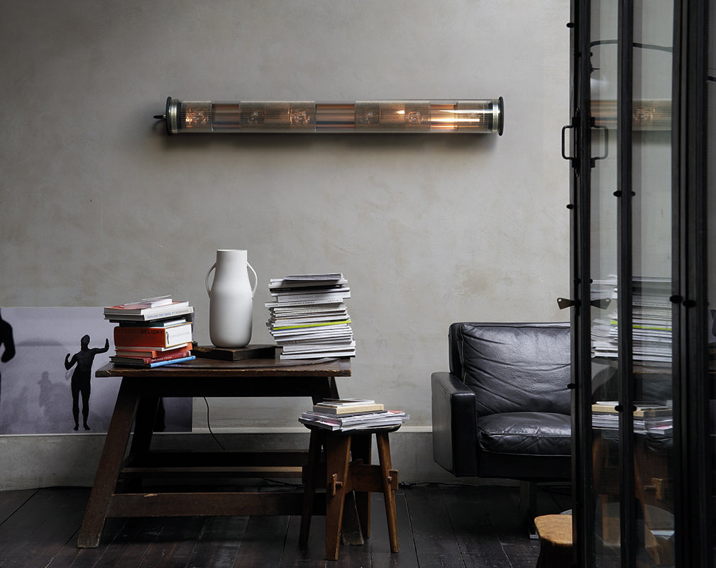 in the tube features in this vintage industrial interior scheme
