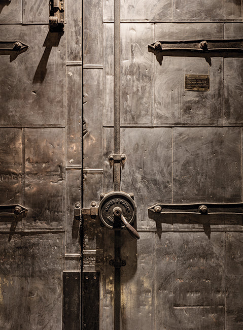 detail of industrial fire doors as featured in this london warehouse conversion