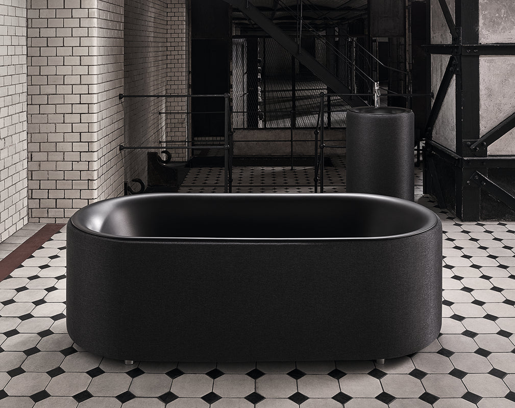 bette unveil new charcoal version of the luxe bathroom collection during clerkenwell design week 2018