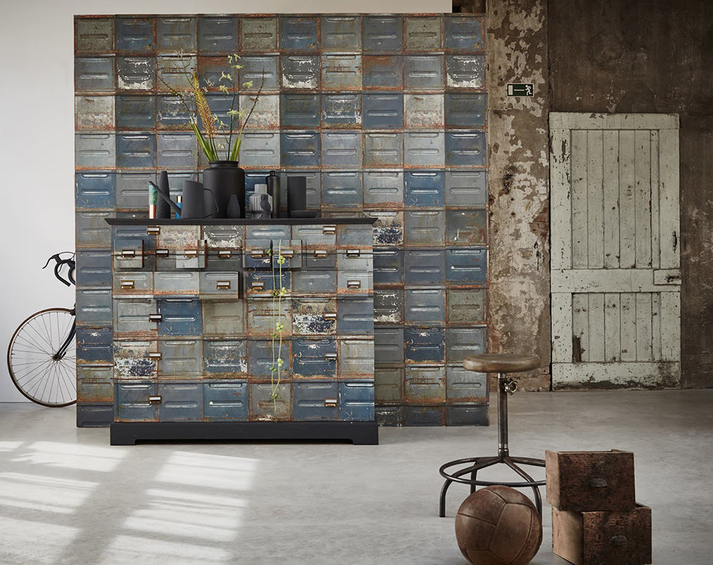 stacked container wallpaper from studio ditte