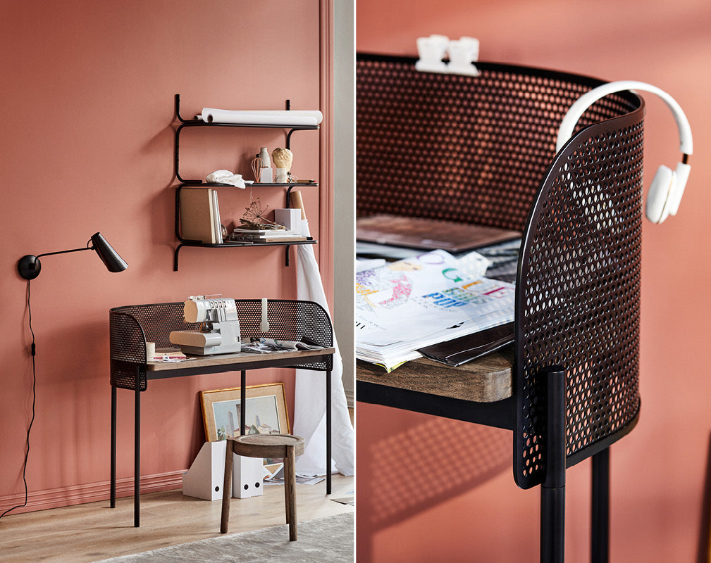 perforated metal and organic shapes are trending in home office designs from northern at holloways of ludlow