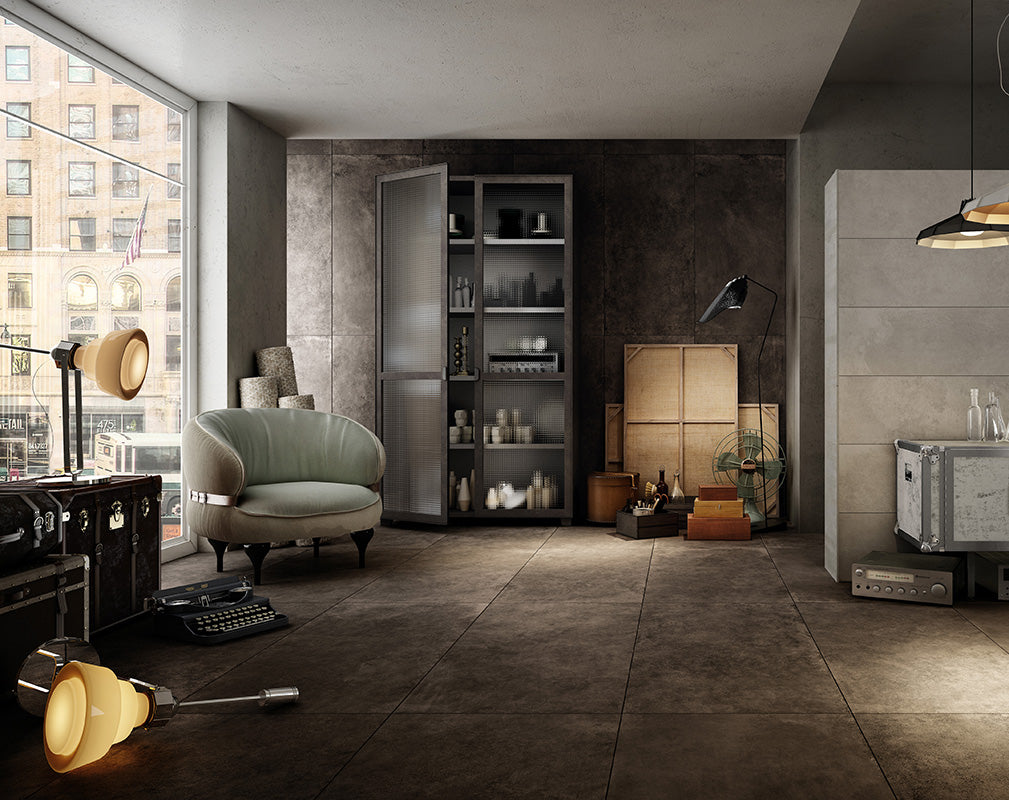 hyper realistic wall and floor tiles in hard leather by diesel living with iris ceramica