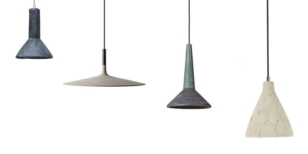 five of the best concrete pendants lamps as featured in warehouse home interior design magazine