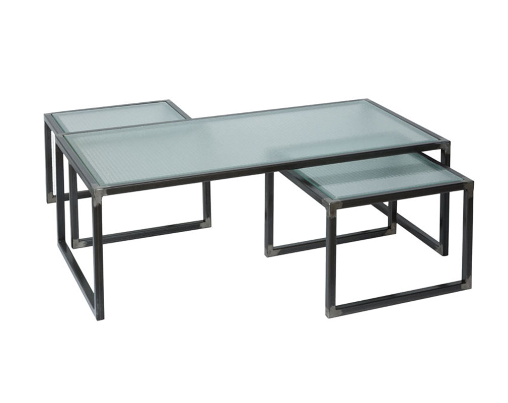 nesting tables inspired by safety glass from oli and grace.