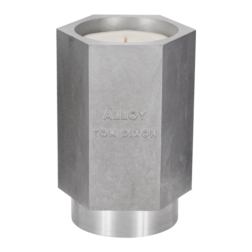 Tom Dixon large Materialism Alloy Candle from Warehouse Home