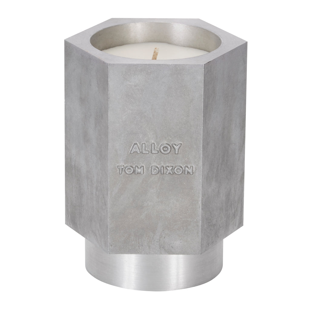 Tom Dixon medium Materialism Alloy Candle from Warehouse Home