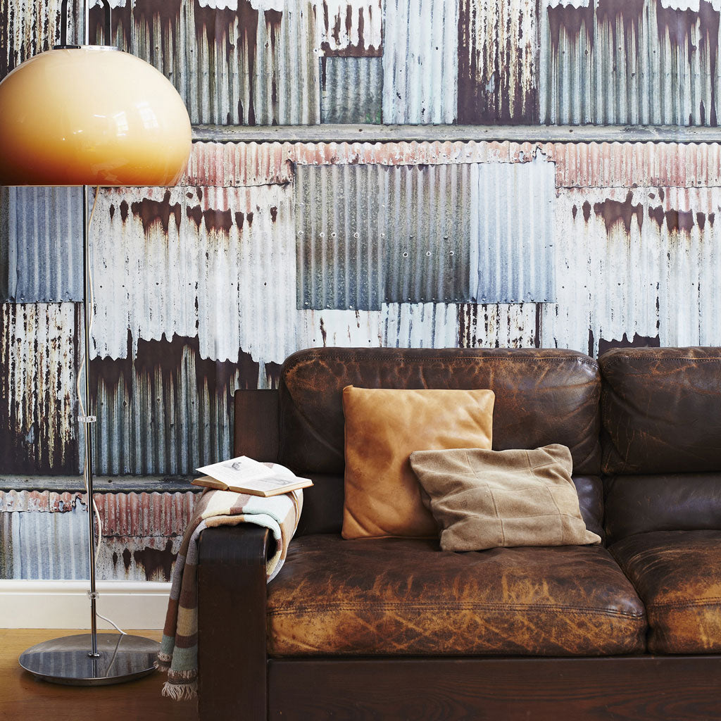 Corrugated Chic Wallpaper
