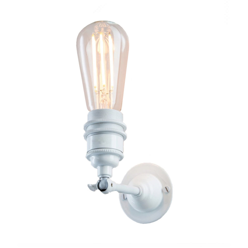 Industrial Wall Light In White