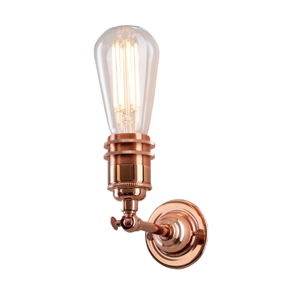 Industrial Wall Light In Copper