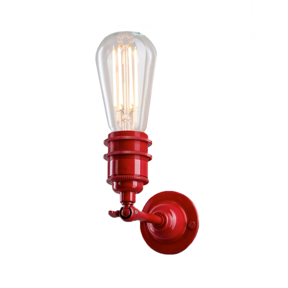Industrial Wall Light In Red