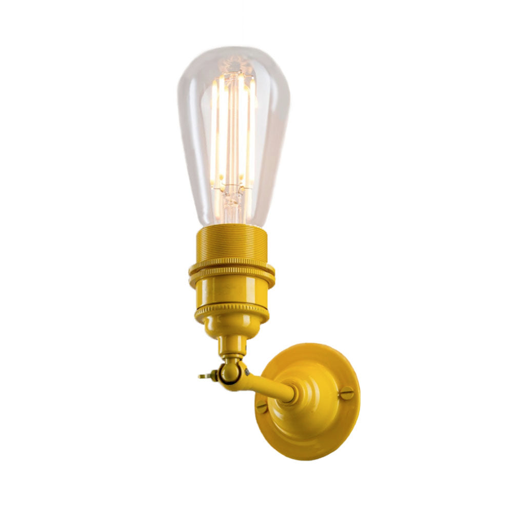 Industrial Wall Light In Yellow