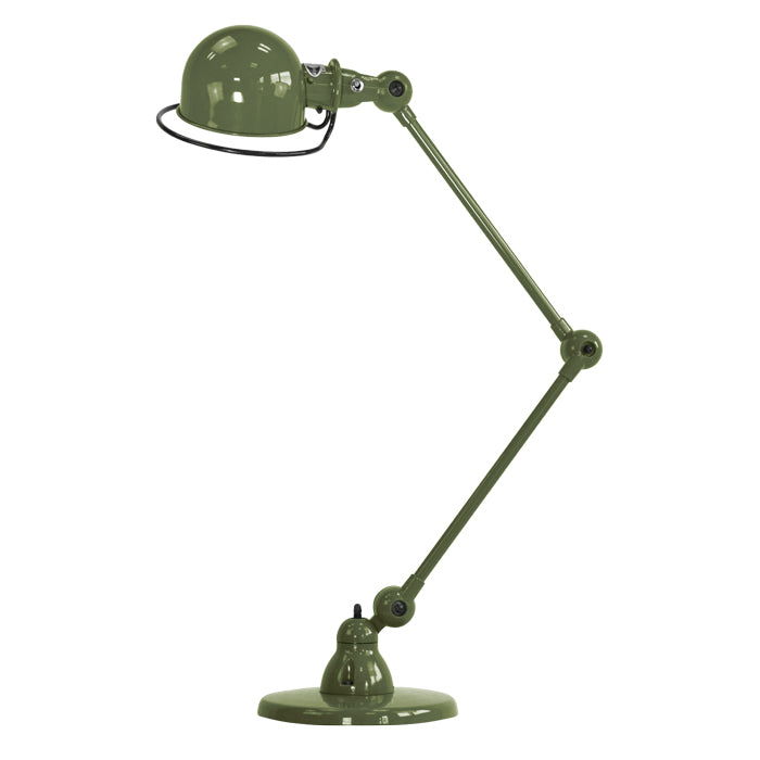 Loft Two Arm Desk Light In Olive