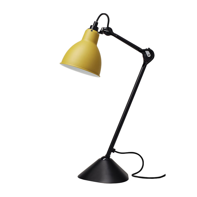 DCW éditions Lampe Gras 205 table lamp with yellow shade and black arm from Warehouse Home