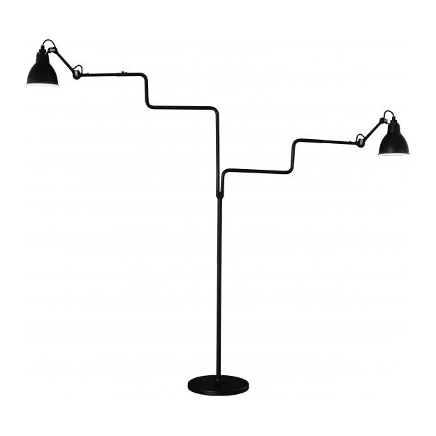 DCW éditions Lampe Gras 411 double floor light in black from Warehouse Home