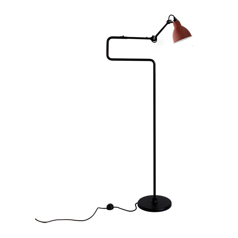 DCW éditions Lampe Gras 411 floor light with red shade from Warehouse Home