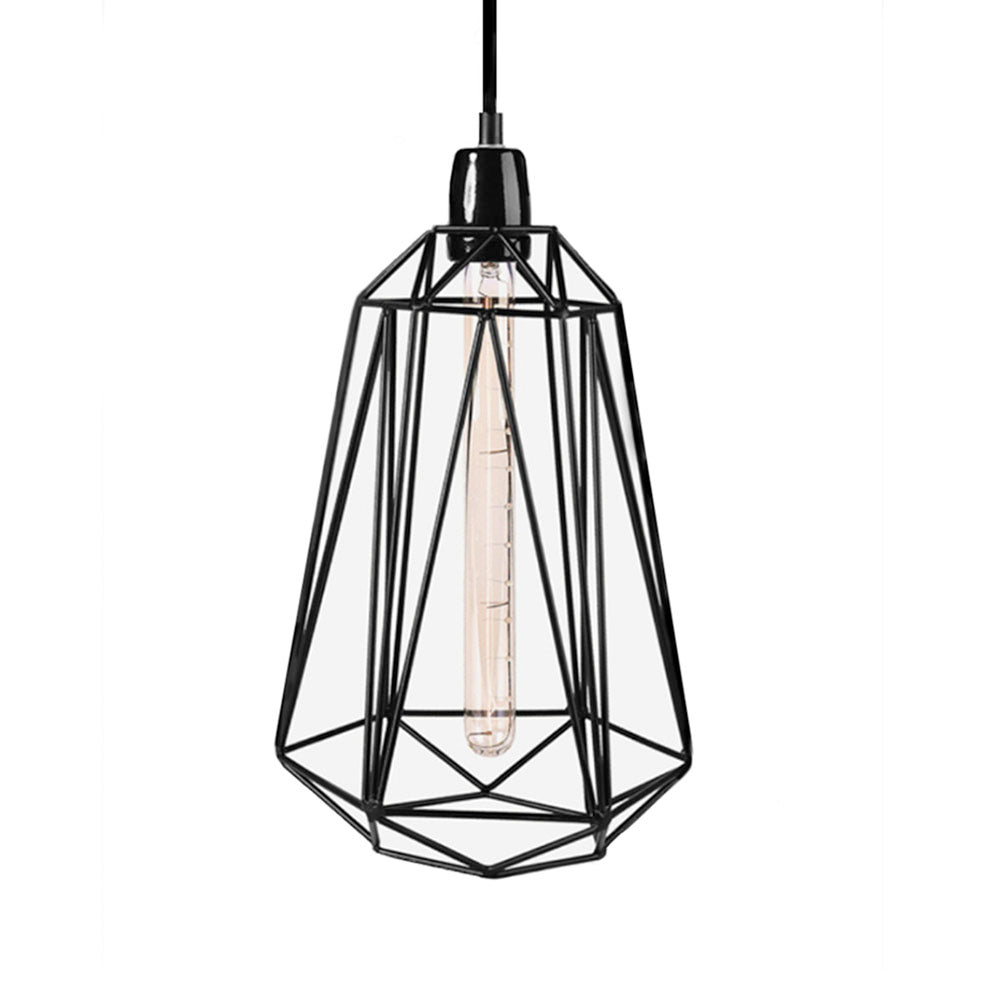 Large Filament Style Pendant In Black