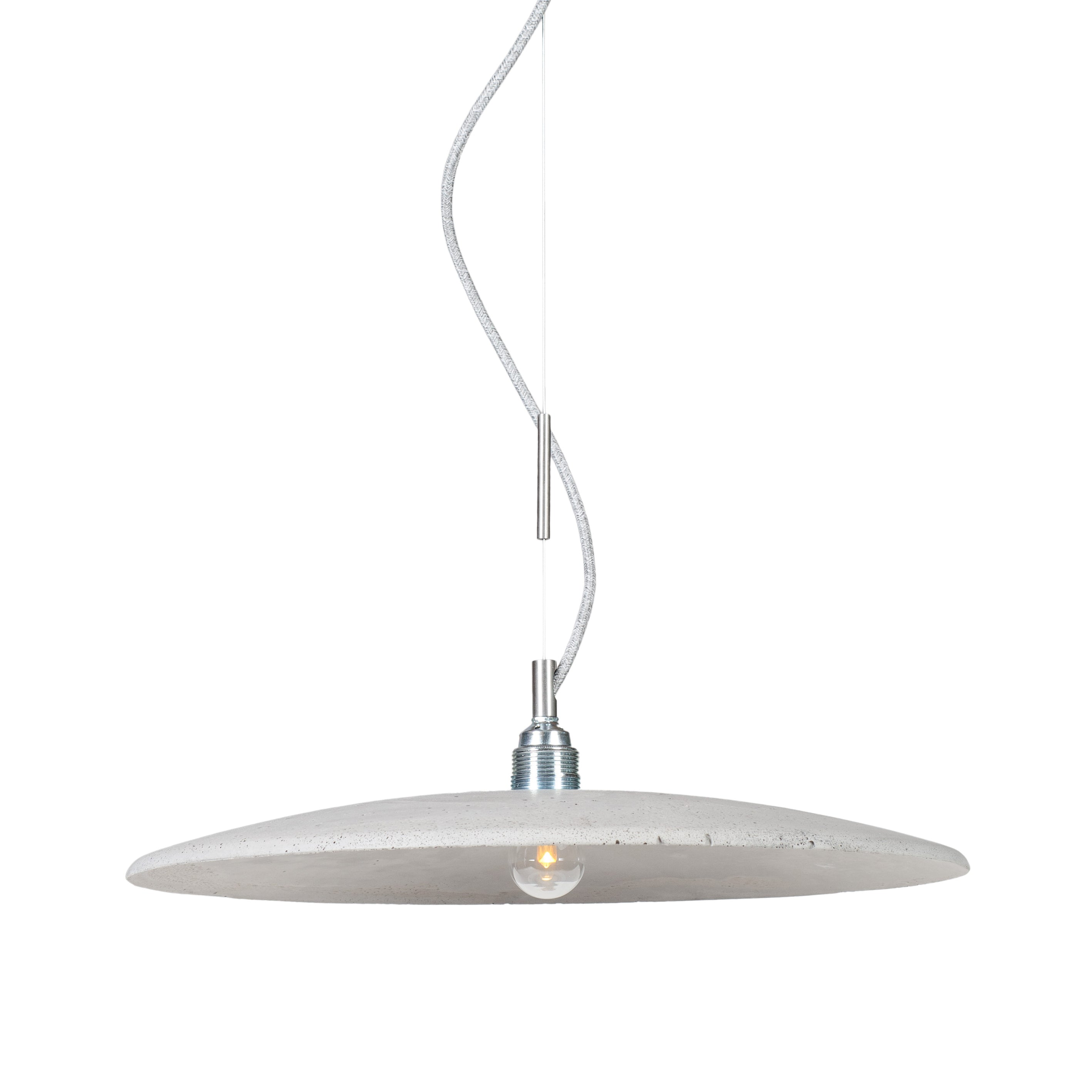 Loftlight Lotna pendant lamp in natural stony hue hand cast in concrete from Warehouse Home