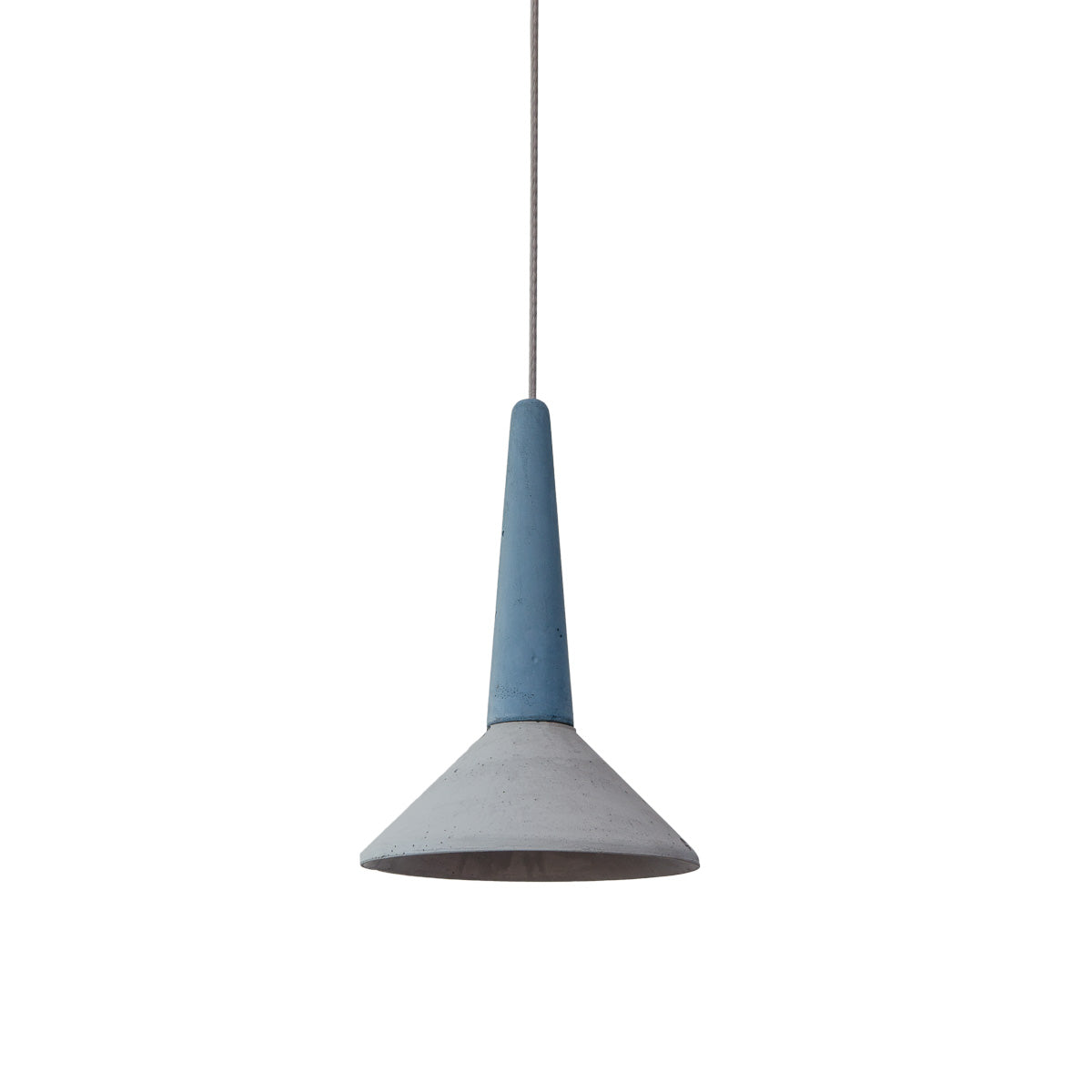 Loftlight Medano pendant lamp in grey and blue hand cast in concrete from Warehouse Home