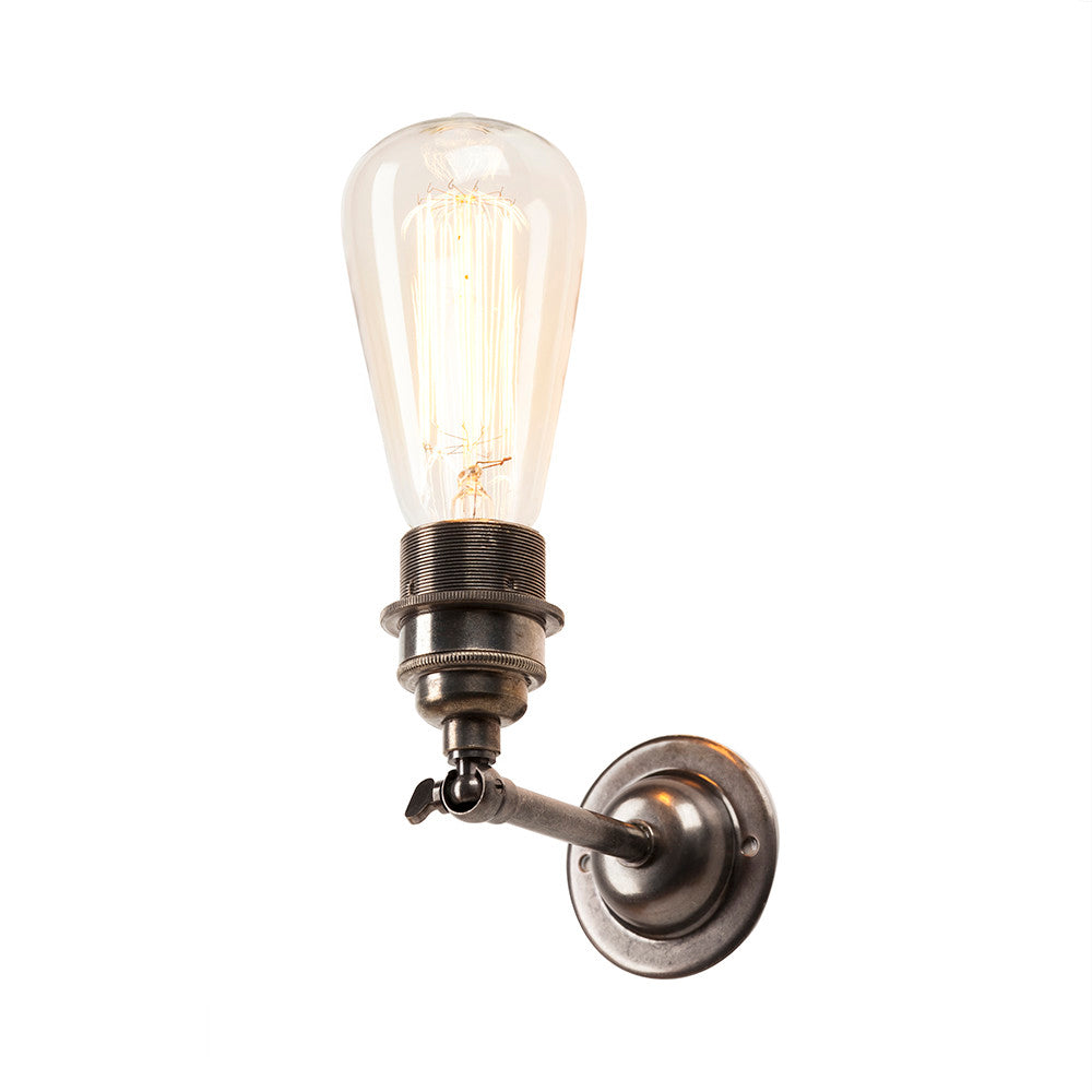 Industrial Wall Light In Antique Silver
