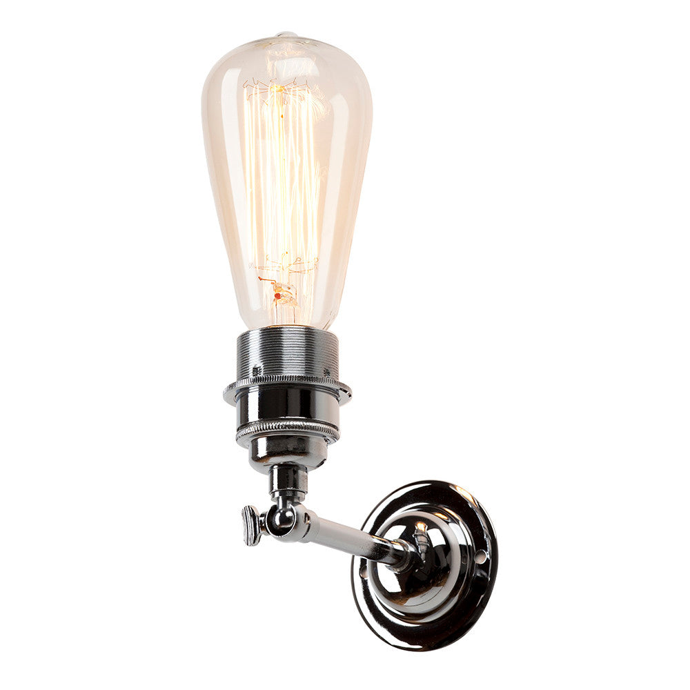 Industrial Wall Light In Nickel