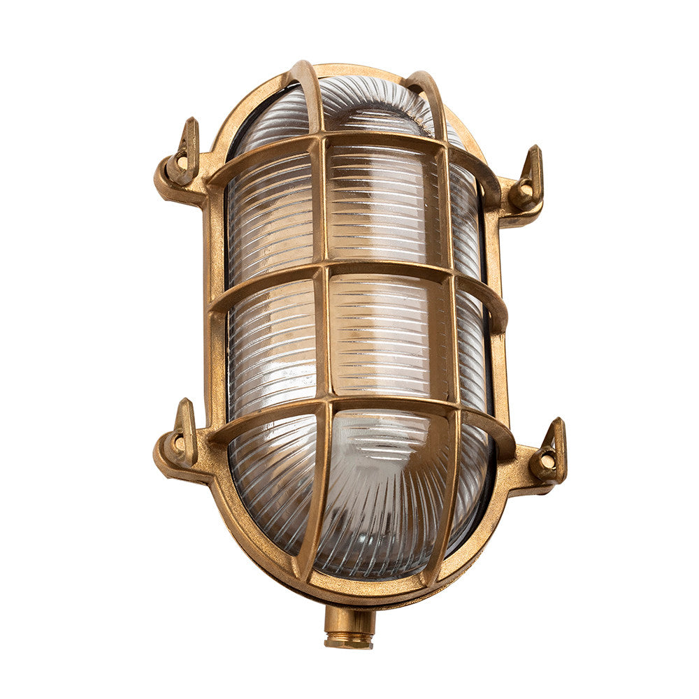 Large Oval Bulkhead Light In Brass