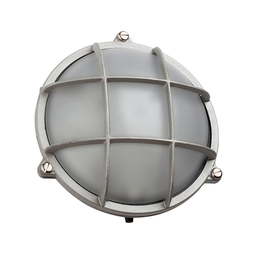 Large Round Bulkhead Light In Nickel