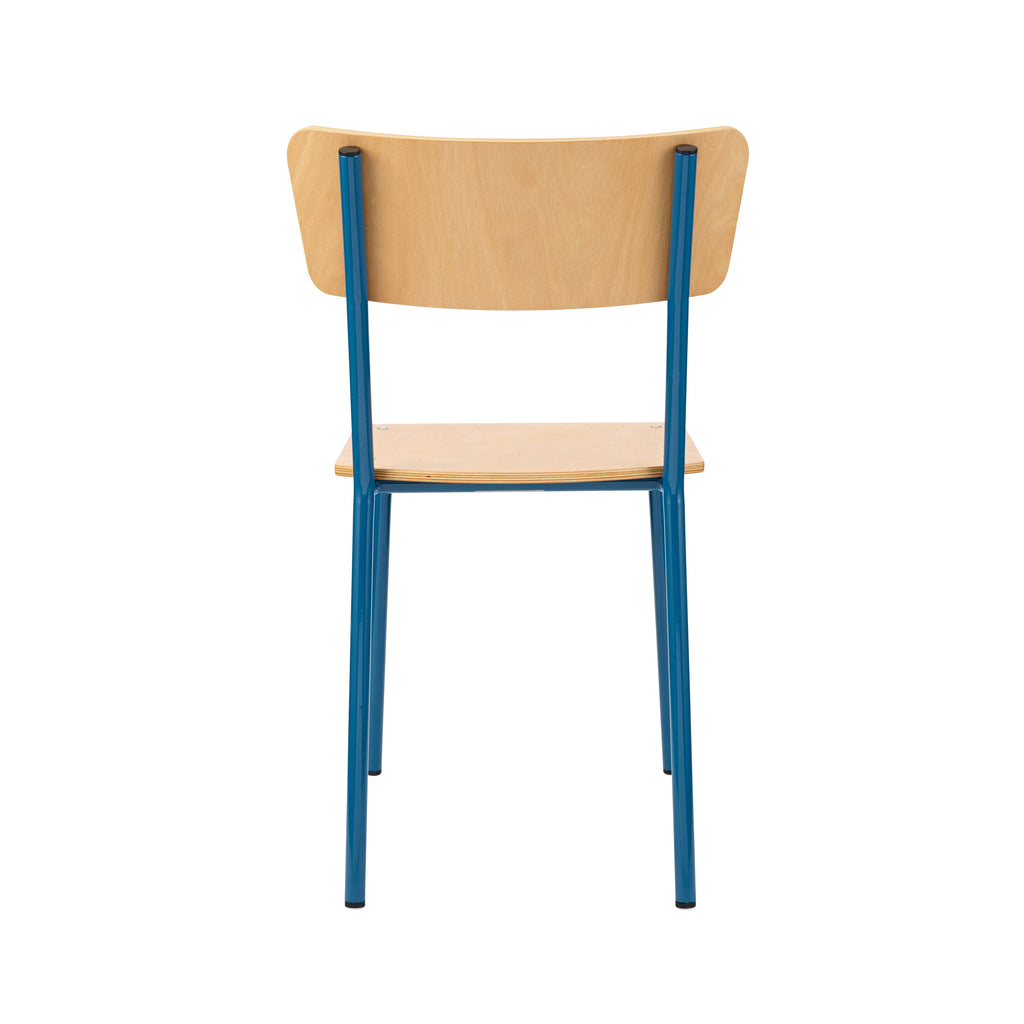 Shop-vintage-industrial-school-chairs-in-colour-and-natural-beech-timber-in-the-warehouse-home-shop
