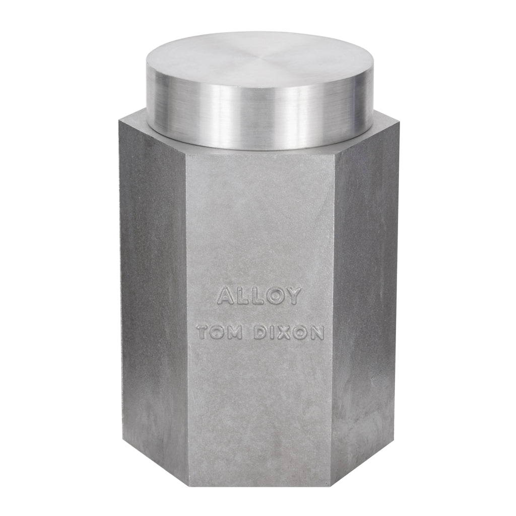 Tom Dixon large Materialism Alloy Candle with lid from Warehouse Home