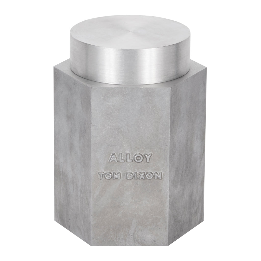 Tom Dixon medium Materialism Alloy Candle with lid from Warehouse Home