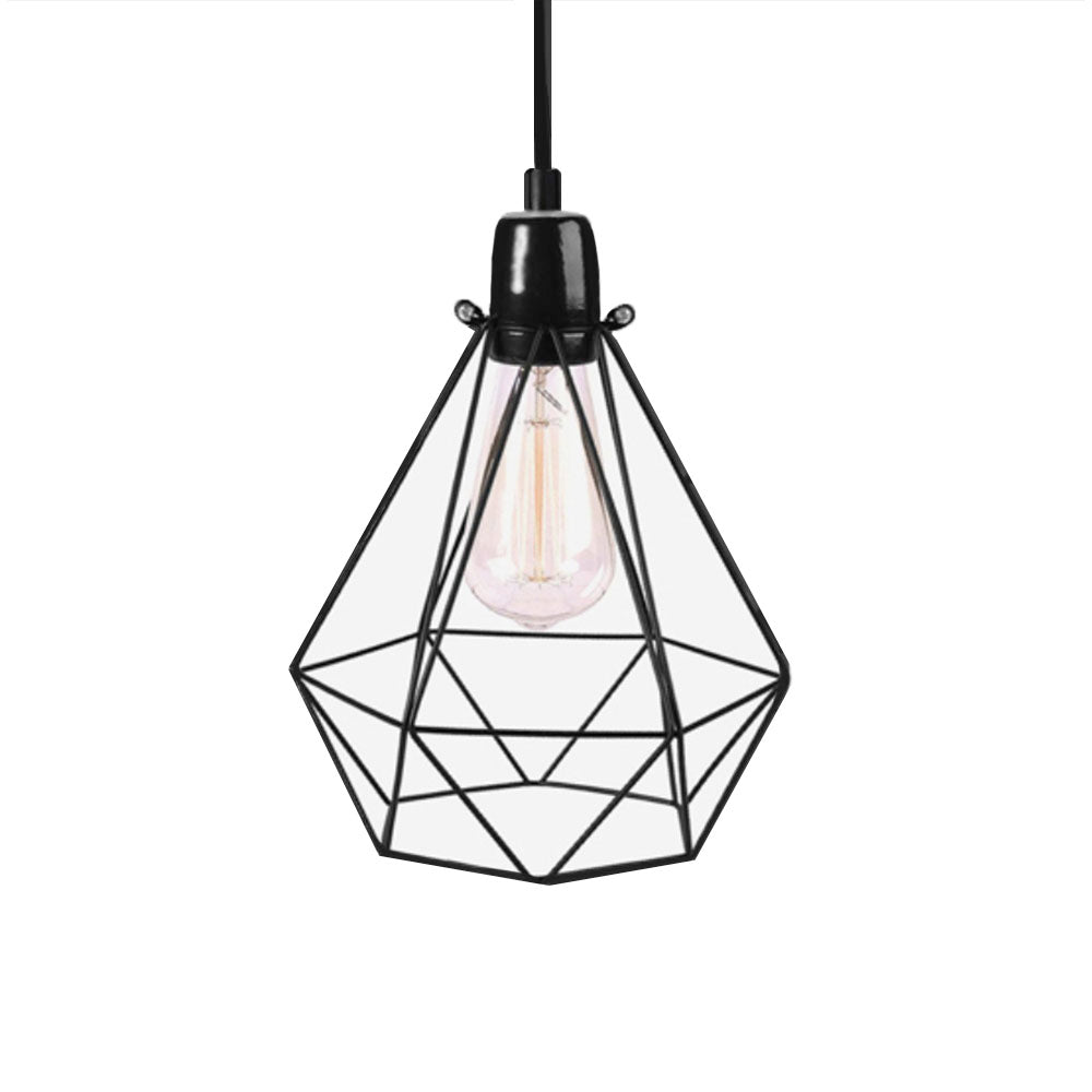 Stout Filament Style Pendant In Black
