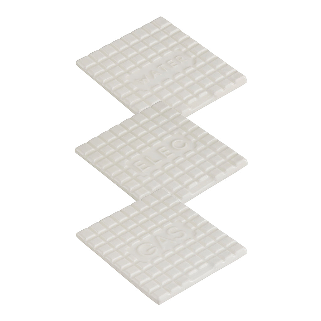 Manhole Coasters In White