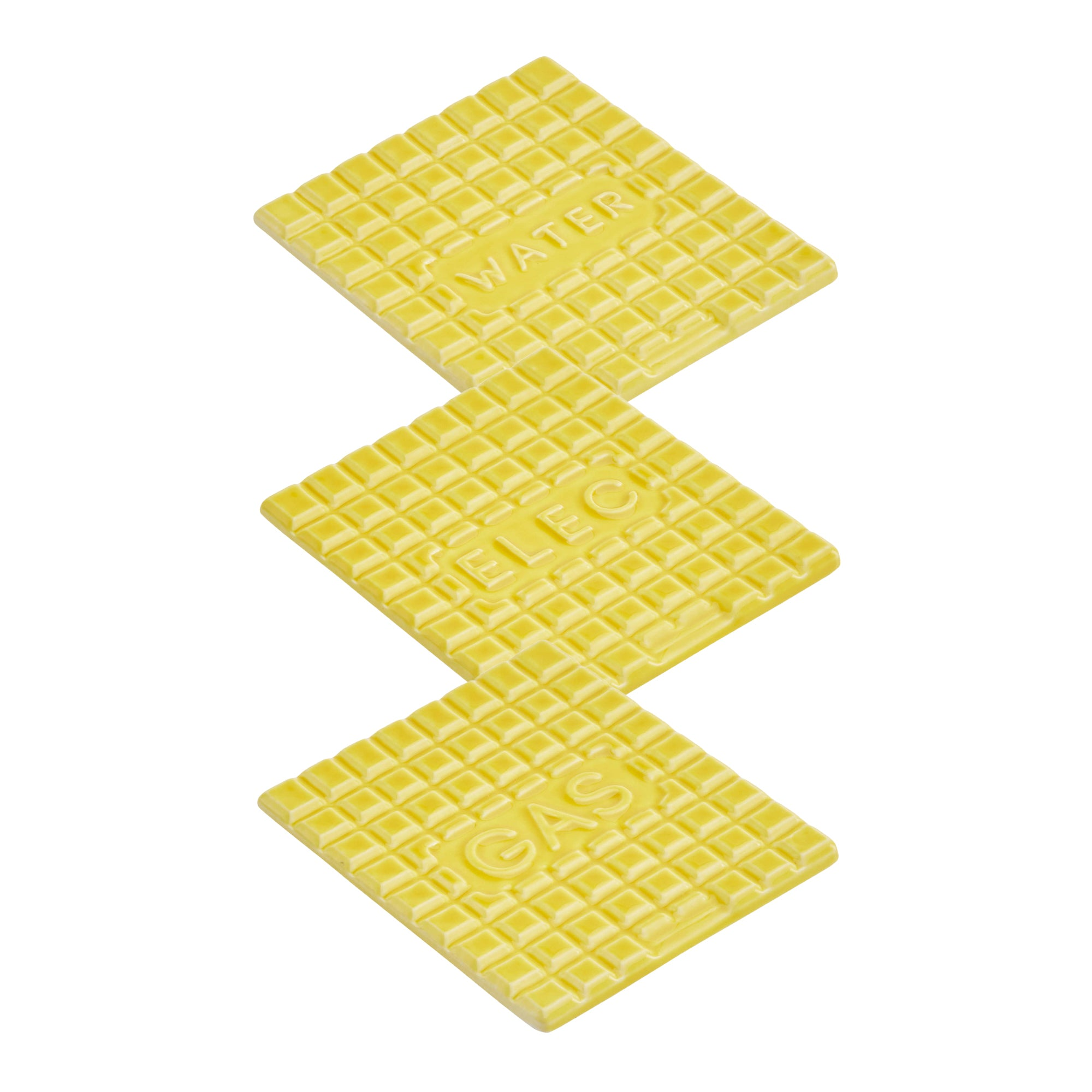 This Yellow Manhole Coaster set is now available to buy from the warehouse home shop