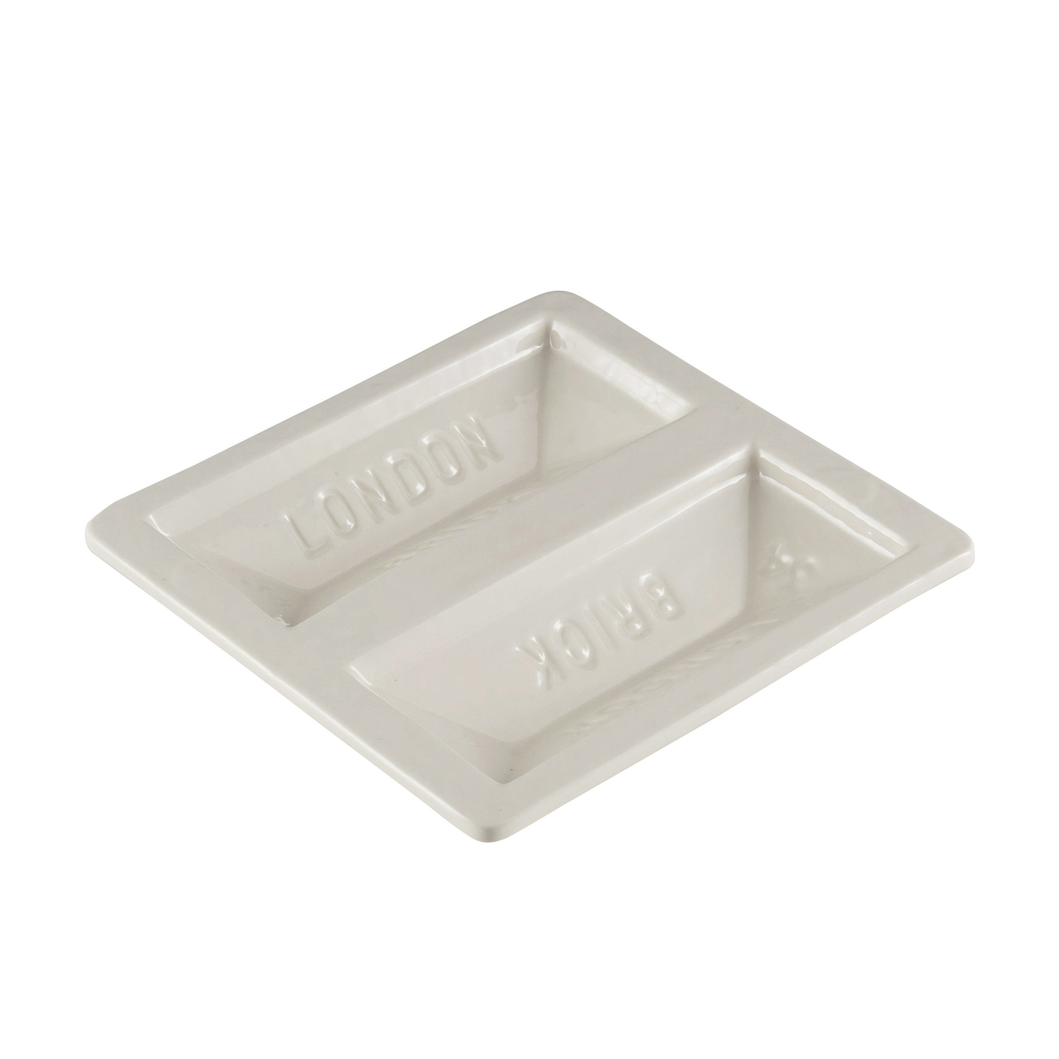 Brick Dish In White