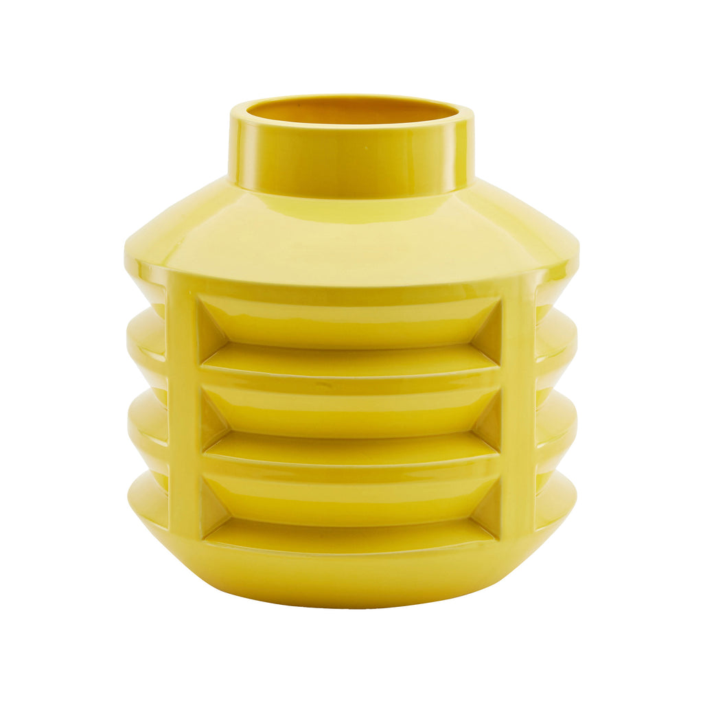 Chimney Cap Vase In Yellow