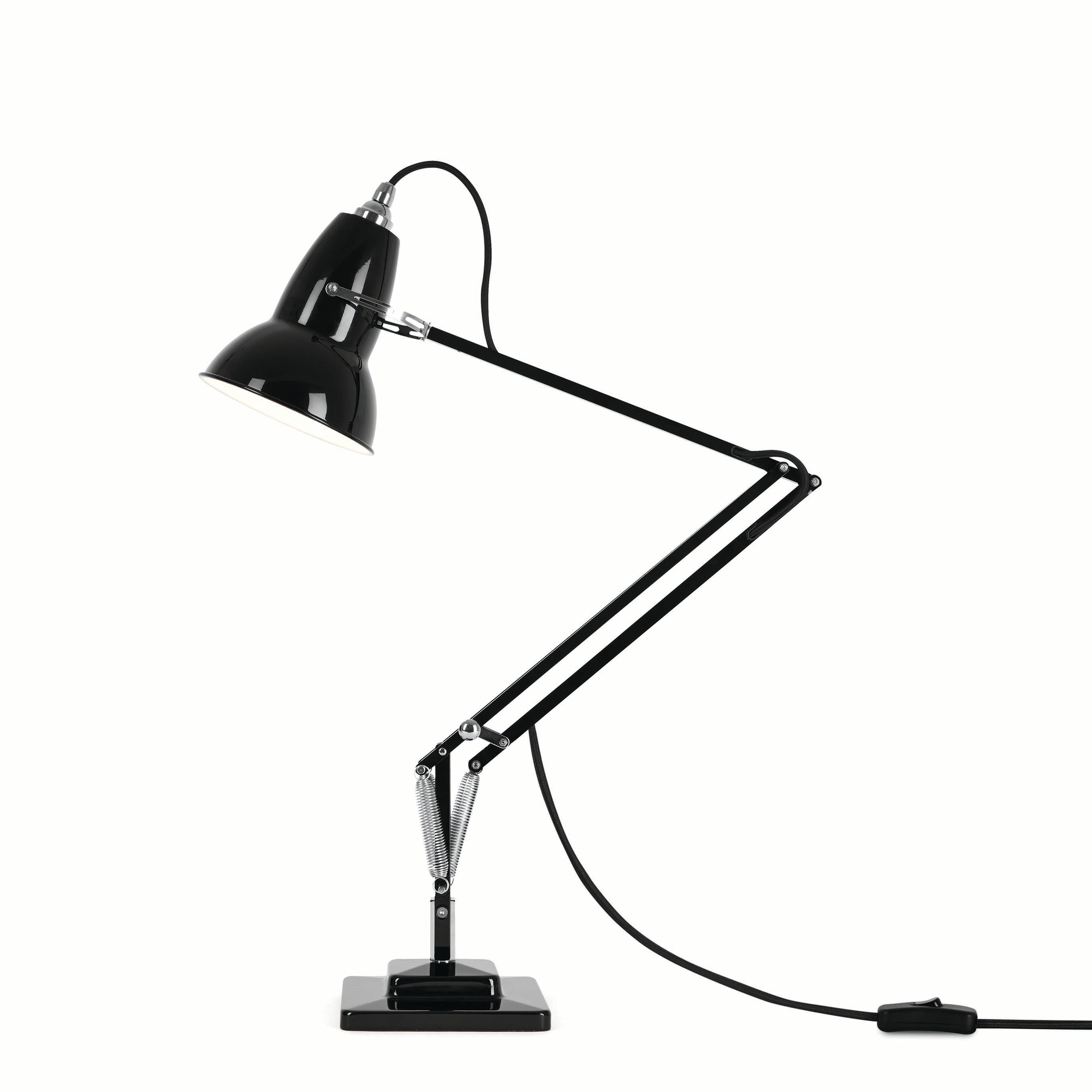 Anglepoise Original 1227 desk lamp in jet black with aluminium shade from Warehouse Home