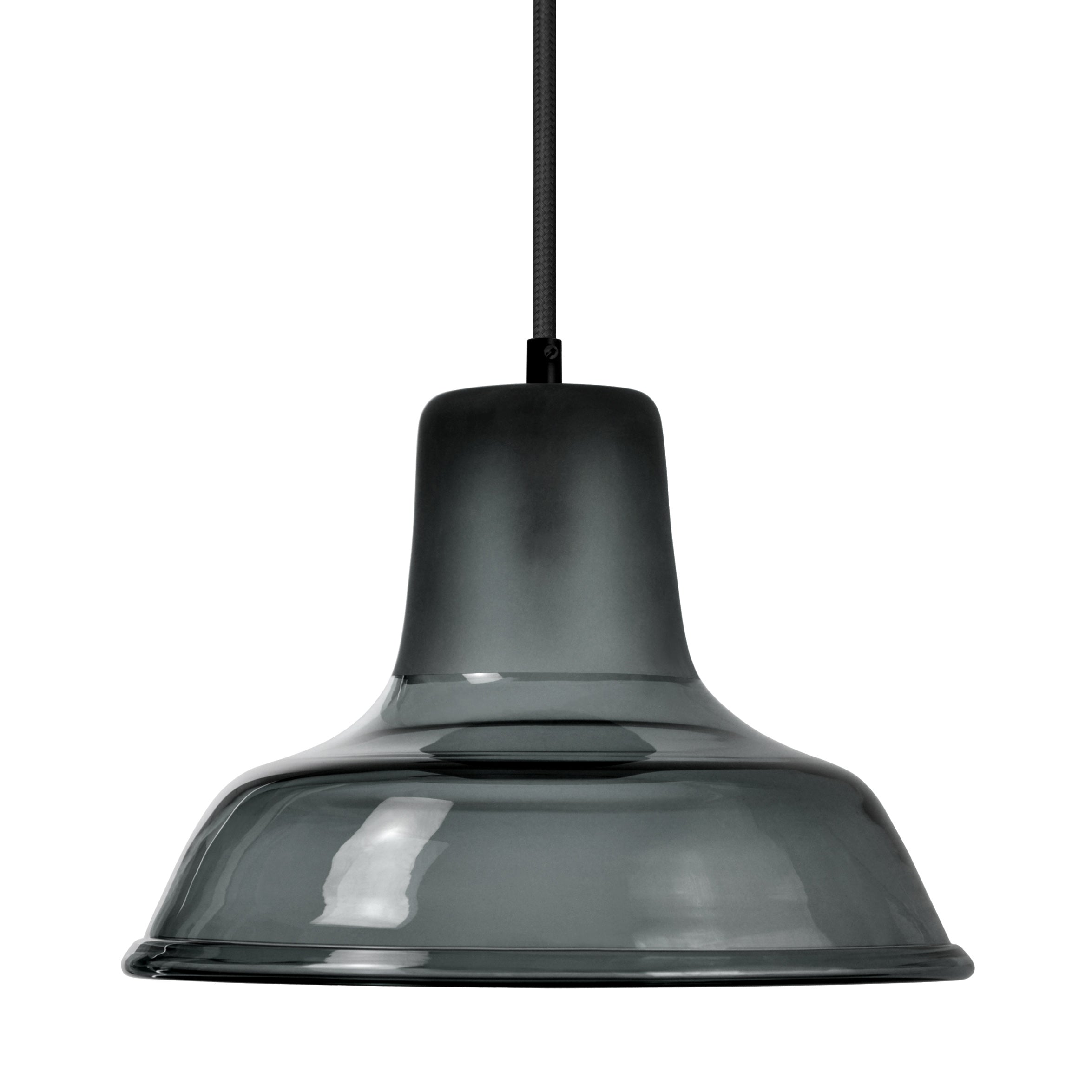 Mineheart Factory glass pendant light in blue smoke by Young & Battaglia from Warehouse Home