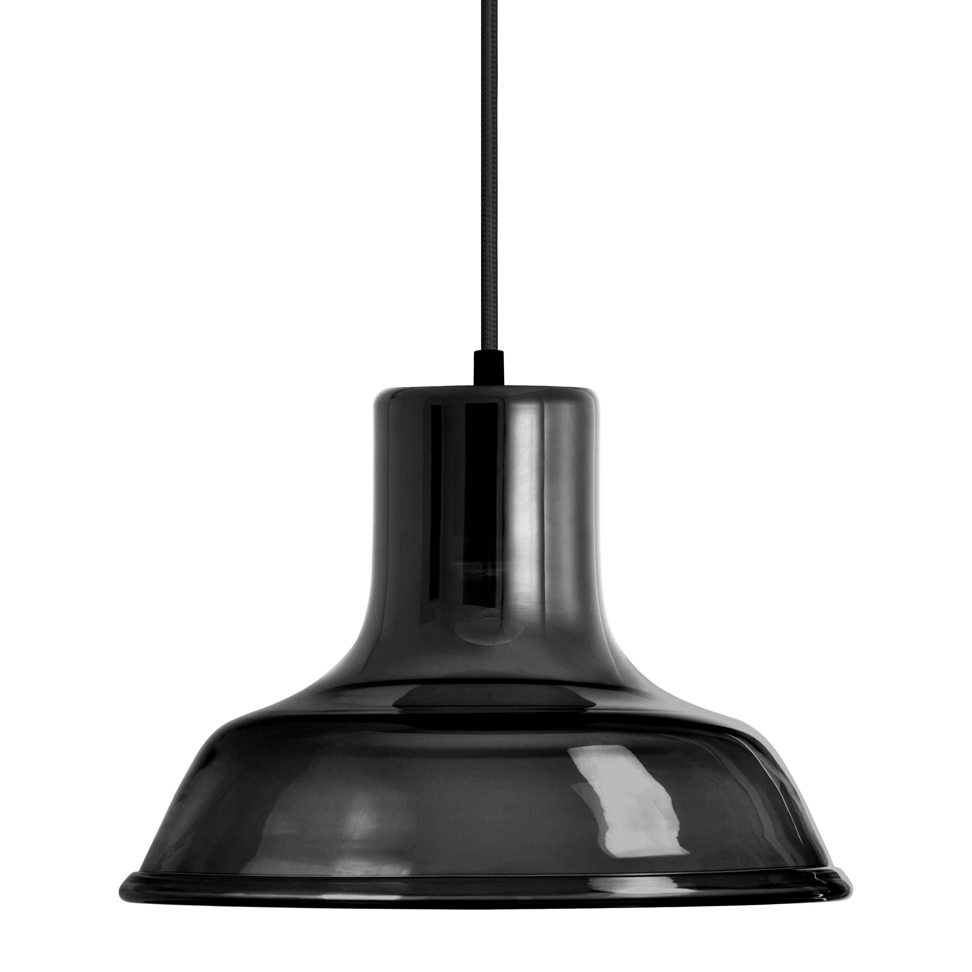 Mineheart Factory glass pendant light in noir by Young & Battaglia from Warehouse Home