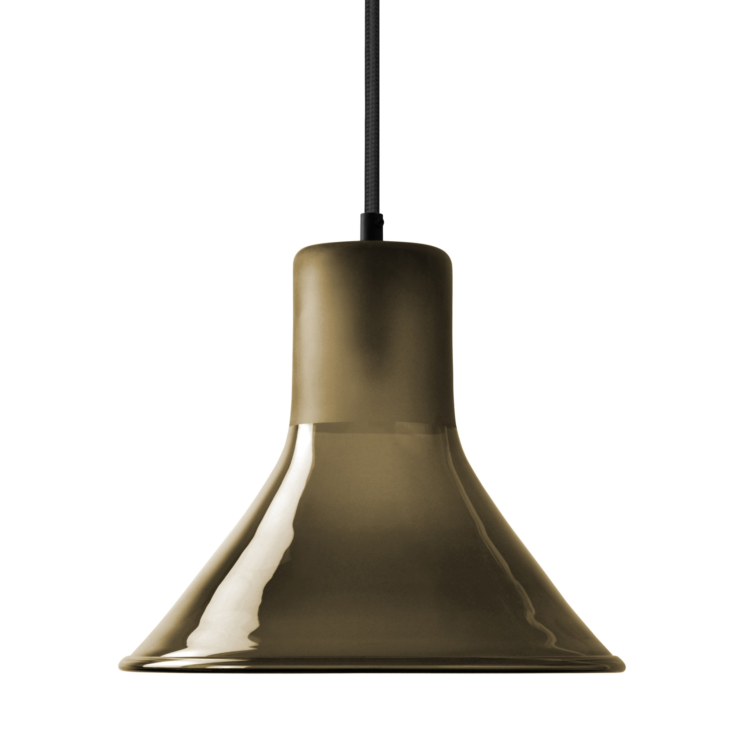 Mineheart Funnel glass pendant light in olive by Young & Battaglia from Warehouse Home