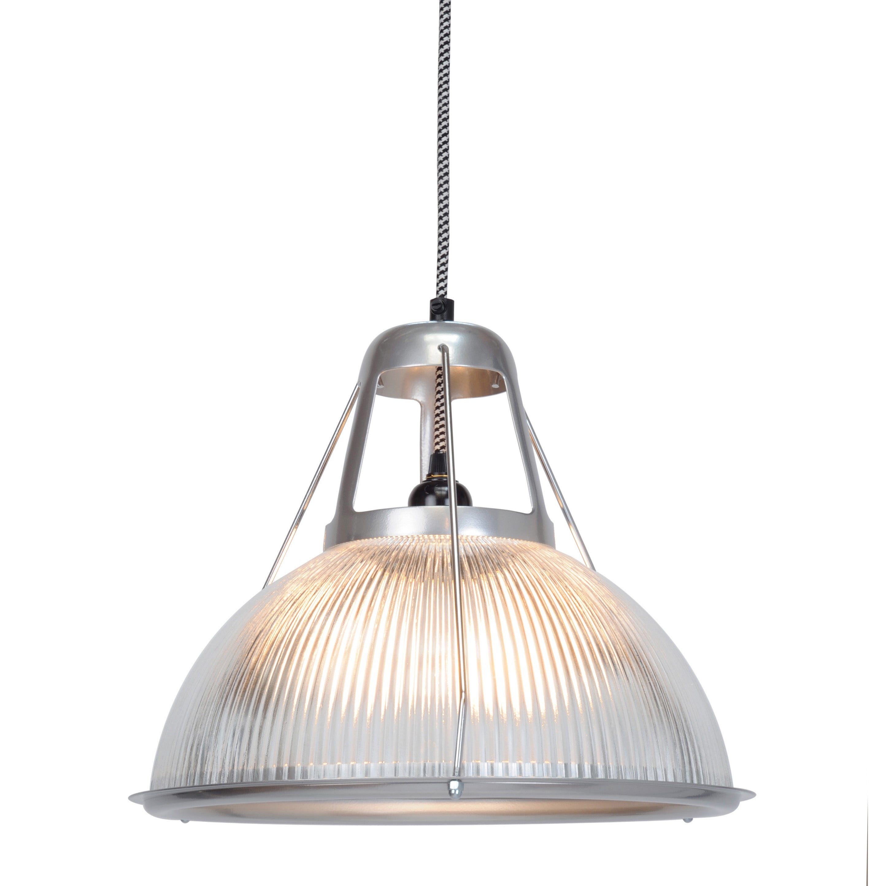 Original BTC Phane prismatic pendant lamp in moulded glass from Warehouse Home