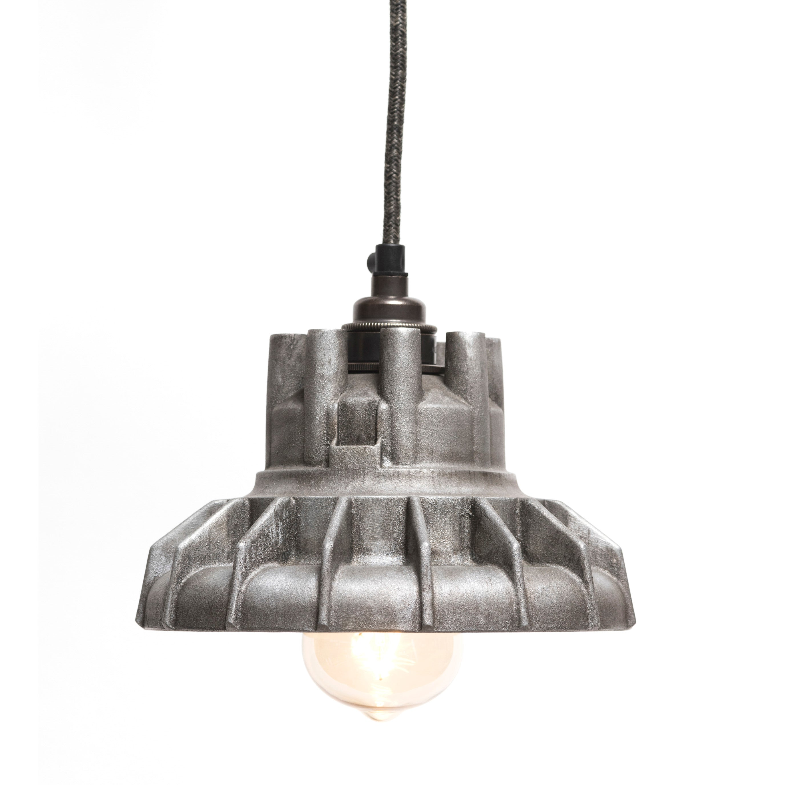 The Rag & Bone Man Pattern #4 Combination pendant lamp in polished aluminium from Warehouse Home