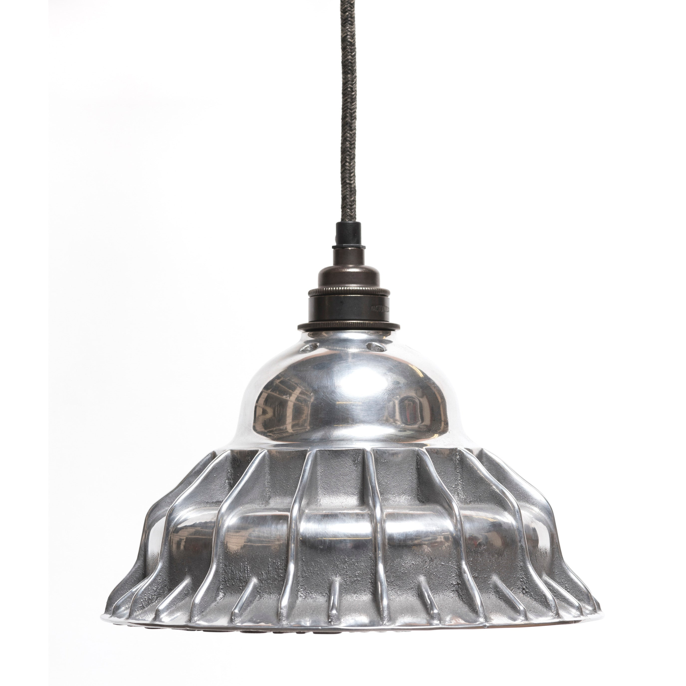 The Rag & Bone Man Pattern #5 Combination pendant lamp in polished aluminium from Warehouse Home