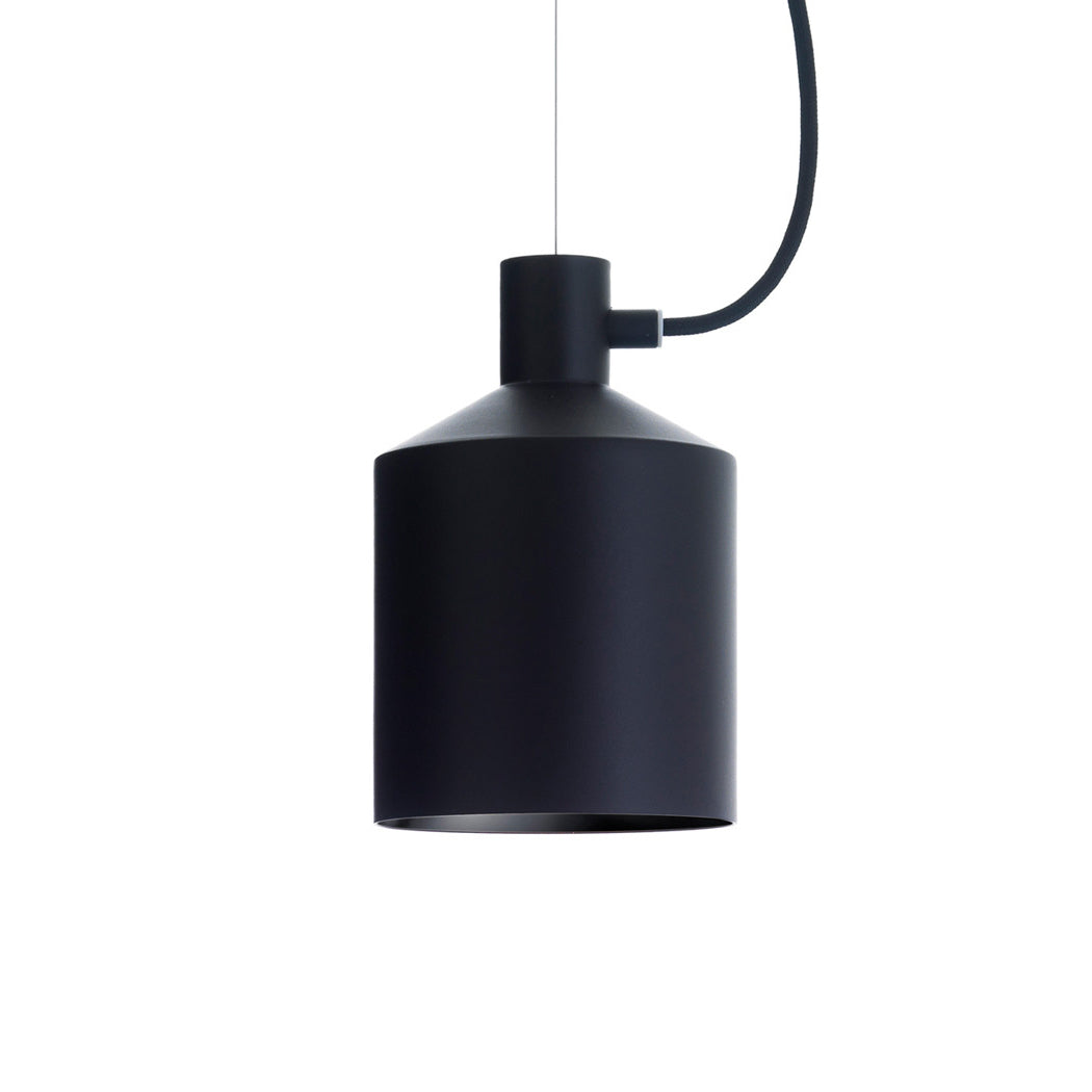 Zero Silo pendant light in black from Warehouse Home