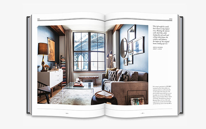New York warehouse conversion apartment with view of the Brooklyn Bridge featured in Warehouse Home book