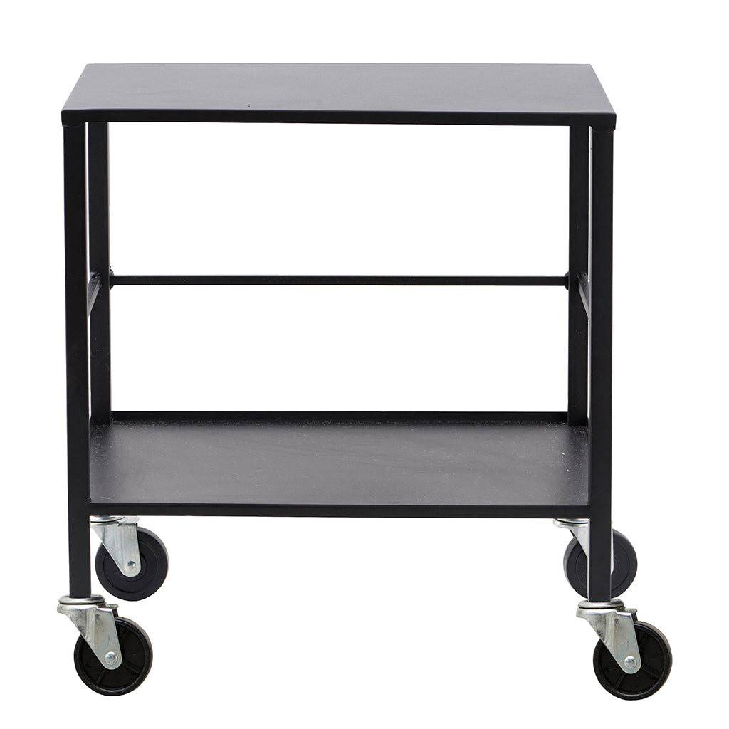 Industrial Style Office Utility Trolley In Black