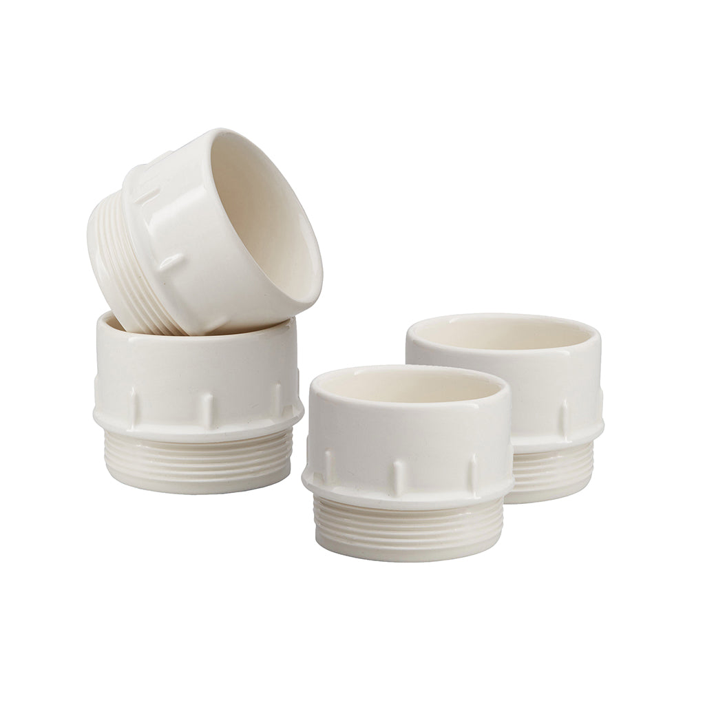 Pipe Espresso / Condiment Cups In White